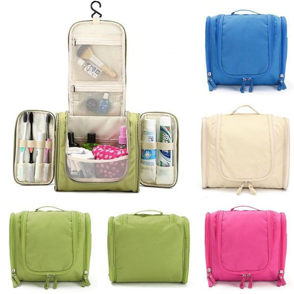 $12.99 Multifunction Travel Wash Cosmetic Bag Makeup Storage Hanging Case - Newchic