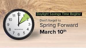 When is Daylight Savings Time?  Turn Your Clock Ahead One Hour at 2 A.M. or Before Bed Saturday Night.     @BenHuynhREALTOR