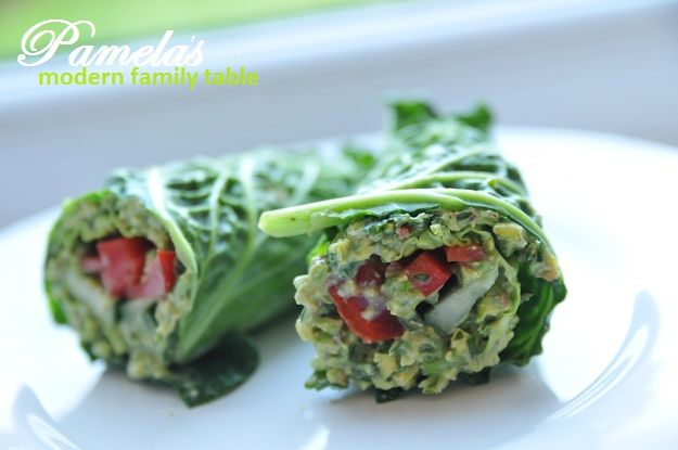 Oh my gosh, these raw, vegan wraps are delicious, filling, and so easy! @Ani Phyo Thank you! From Pamela's Modern Family Table