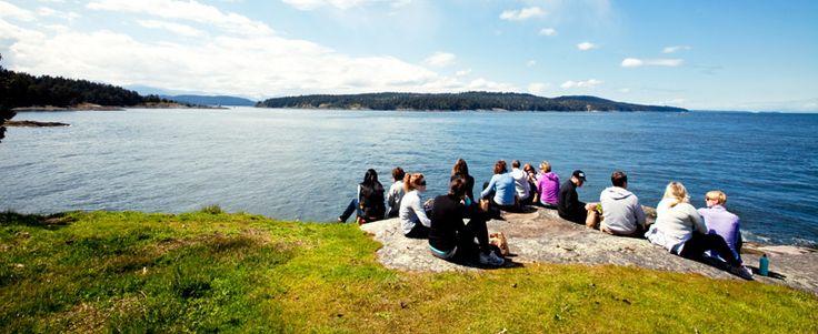 Sempervira Yoga Retreat at Bodega Ridge on Galiano Island.
