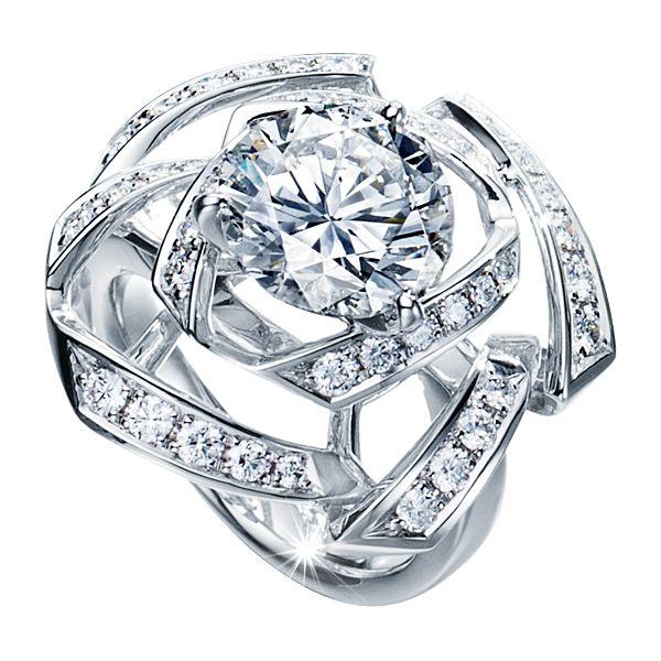 リボンローズ エンゲージメントリング ribbon rose Engagement Ring RD-P2141-PT950 プラチナ / ダイヤモンド