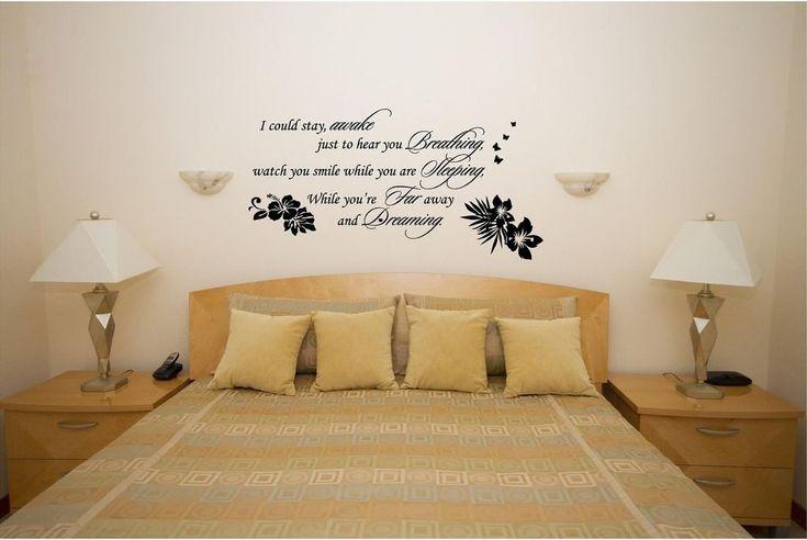 63 Best Adult Bedroom Custom Vinyl Wall Decals, Stick On