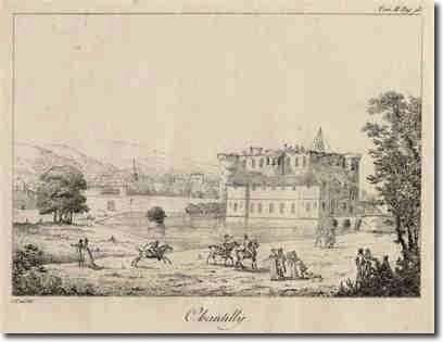 Chantilly- Félix Duban né à Paris le 14 oct 1797 et mort à Bordeaux le 8 aout 1870. Le duc d'Aumale s'adressa à Félix Duban , créateur des bâtiments de l'Ecole des Beaux Arts à Paris, pour aménager en 1847 une galerie extérieure en bois afin de desservir les appartements du Petit Chateau: la galerie Duban. Satisfait du résultat, le duc d'Aumale lui commanda alors un projet de reconstruction du Grand Chateau, qui ne vit jamais le jour en raison de la révolution de 1848 et de son départ en…