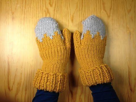 Cómo tejer en telar unos guantes manoplas (Tutorial DIY) | Telar 24 postes, 150 gramos de lana para agujas 7-8 mm