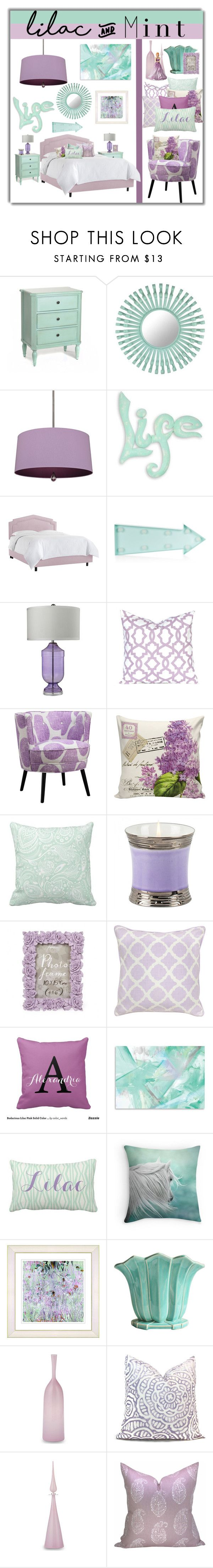 """Lilac and Mint"" by joyce-williams ❤ liked on Polyvore featuring interior, interiors, interior design, home, home decor, interior decorating, Florence Broadhurst, Williamsburg, NOVICA and New Look"