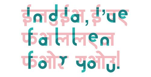 The Hinglish project - combining Hindi + English to create a unique type