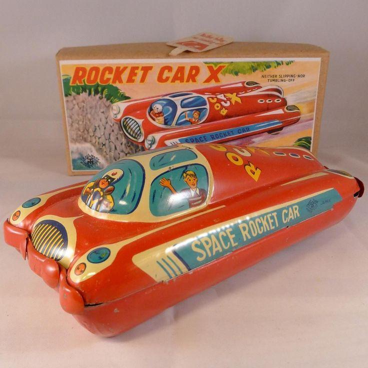 Space Rocket Car x in Original Box Modern Toys Japan 1950 S | eBay
