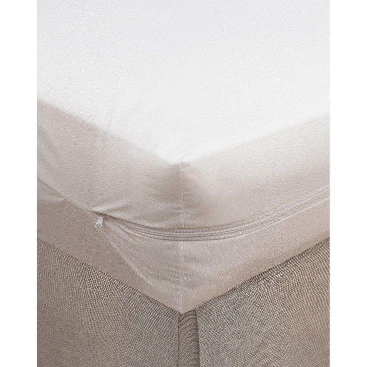 Bargoose 100% Cotton Zippered Crib Mattress Cover, White