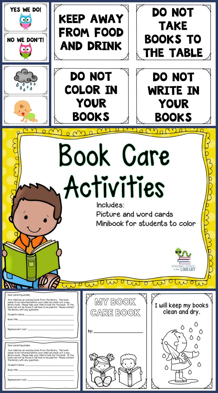 teach your students how to take care of their books with these activities includes sorting