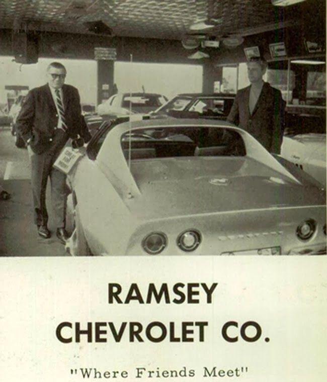 Ramsey Chevrolet Co Dealership Tulsa Oklahoma Chevrolet Vintage Corvette Car Dealership