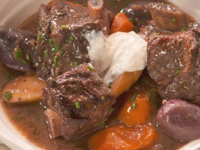 Short Rib Stew with Vegetables and Port Recipe : Nancy Fuller : Food Network