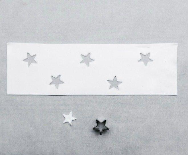 в форме звезды печенье резак на белом фимо глины
