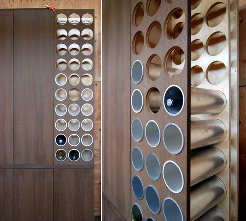 built in wine rack ideas - Google Search