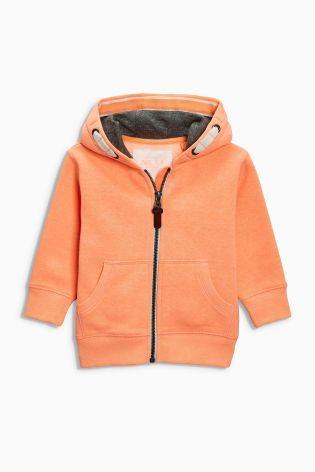 Orange Zip Through Hoody (3mths-6yrs)