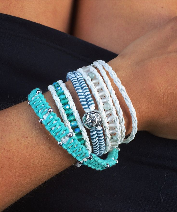 Wrap bracelet. Perfect for beach day!
