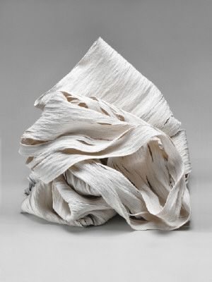Cheryl Anne Thomas  large collapsed pots out of tiny coils