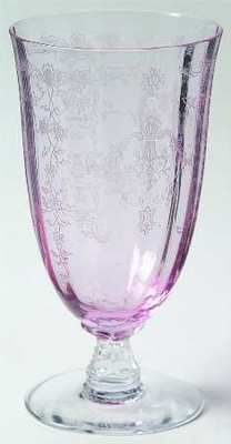 My Fostoria Navarre Pink Ice Tea Glass../ I have those in blue
