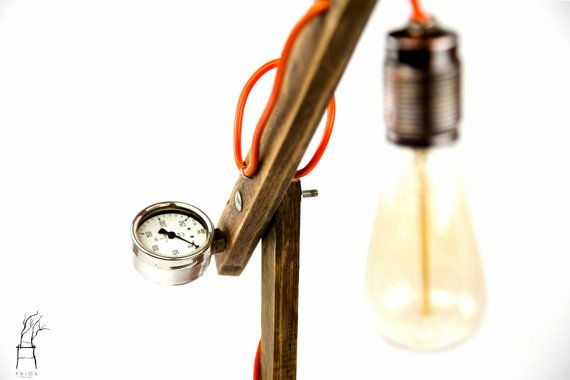 Industrial aspect desk lamp. Antique Edison style. by PriosTeam