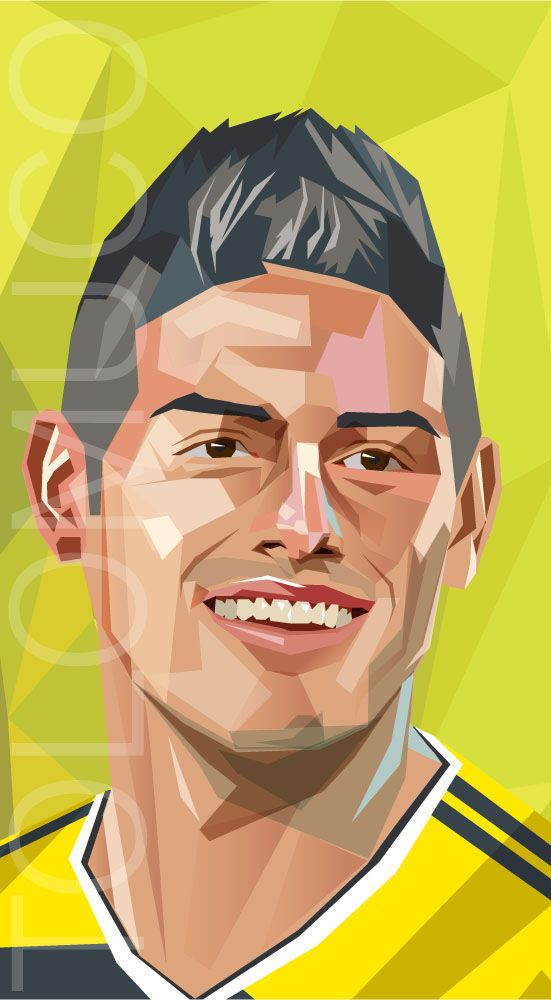 World Cup Players by Daniel Solano, via Behance