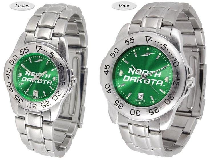 Sport Steel AnoChrome North Dakota Fighting Hawks Watch is available in Mens or Ladies styles. Showcases the team logo. Stainless Steel band. Free Shipping. Visit SportsFansPlus.com for Details.