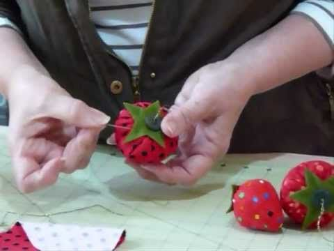 Strawberry Pin Cushion - How Delicious! - Quilting Tips & Techniques 041...