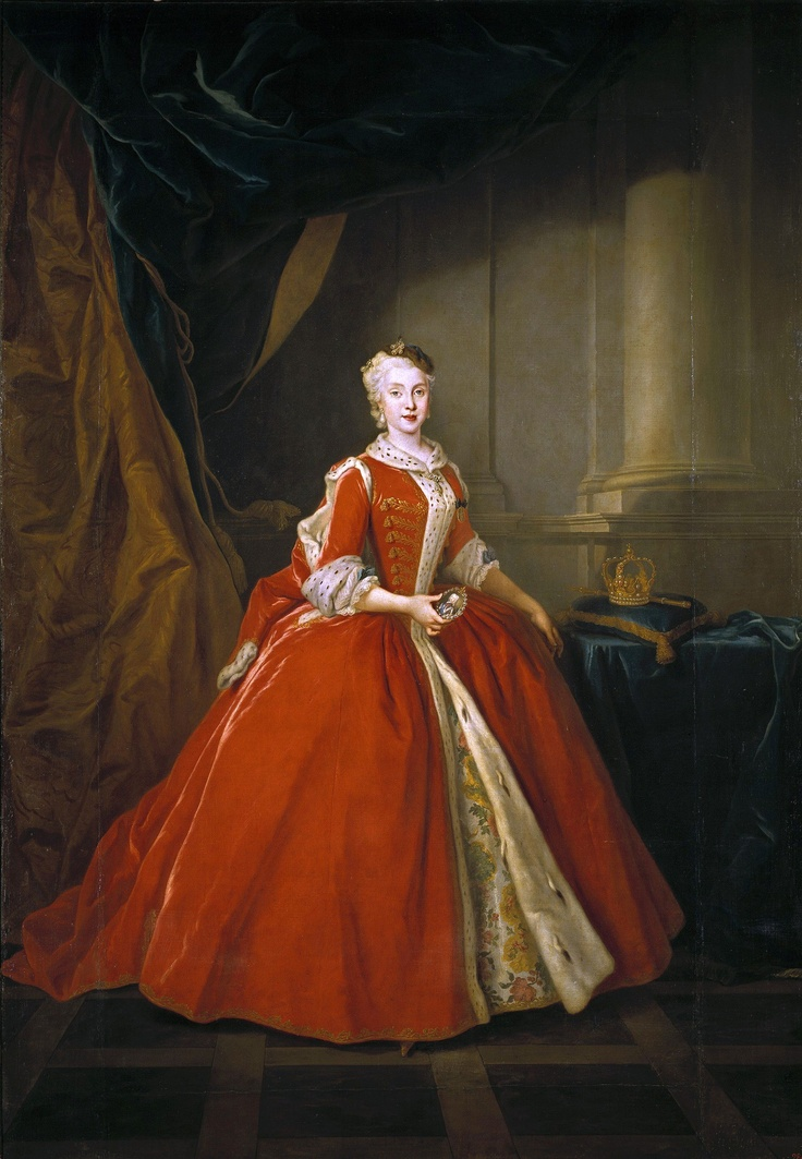 Princess Maria Amalia of Saxony (1724-1760), daughter of king Augustus III of Poland and later queen consort of Spain, Naples and Sicily   Louis de Silvestre (1738)