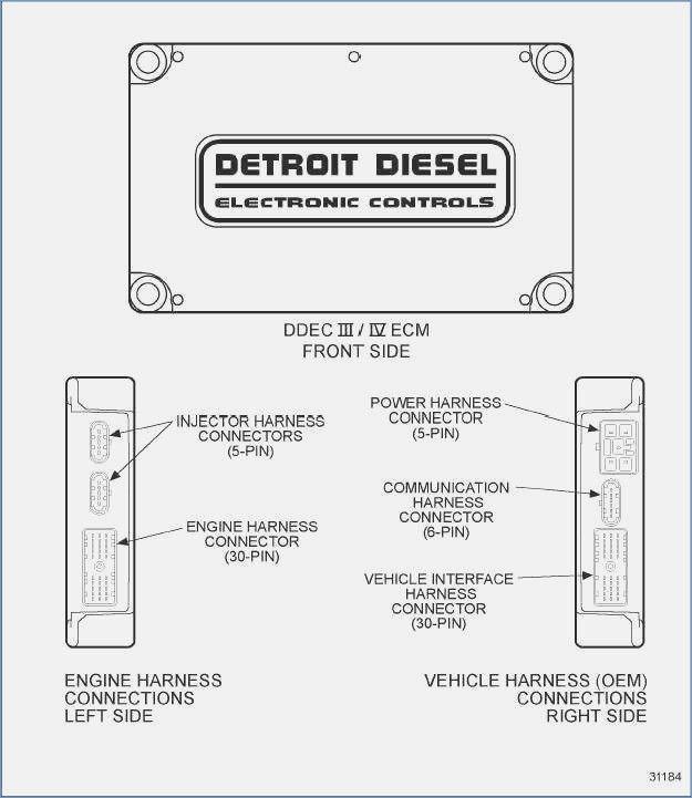 detroit series 60 ecm wiring diagram dolgular of ddec v ecm