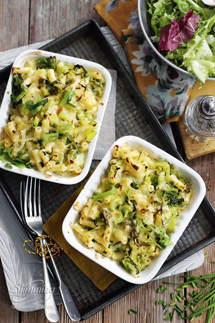 Our healthy version of the ever-popular macaroni cheese features tasty pasta mixed with cheese, leeks and tangy mustard.  http://www.slimmingworld.co.uk/recipes/cheats-leek-macaroni-cheese.aspx