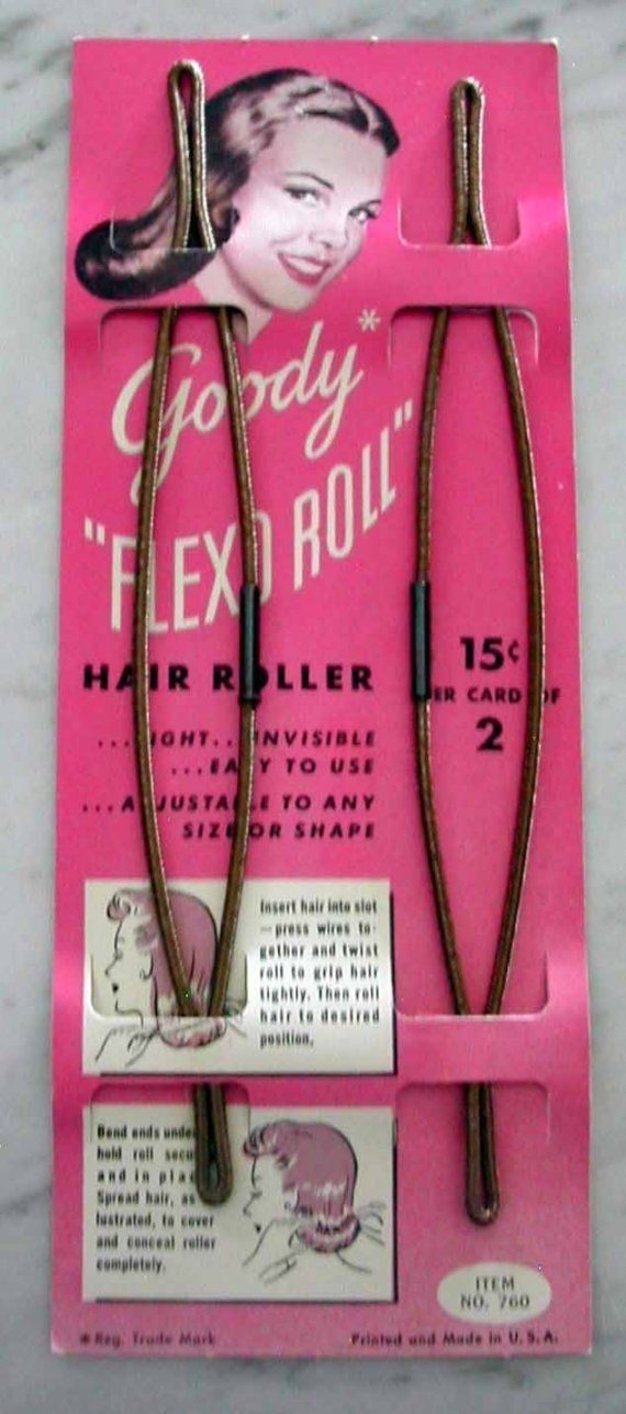 Vintage 1940s Hair Roller for Pinup Hairstyles by RumbleSeatCat