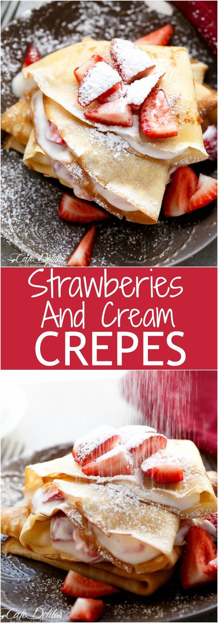 Strawberries and Cream Crepes Collage | cafedelites.com