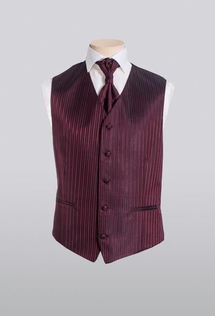 Мужской жилет в полоску с пластроном | Men's vest striped waistcoat