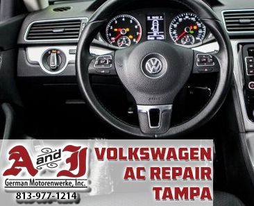 813-977-1214 Call for Tampa Volkswagen AC Repair at A&J. Compressors, electric and freeon help for your car! Drive Ups Are Always Welcome Or Call Today for an Appointment!  http://ajmotorworks.com/vw-ac-repair-tampa/  A&J German Motorenwerke 10824 N Nebraska Ave Tampa, FL 33612 www.AjMotorworks.com