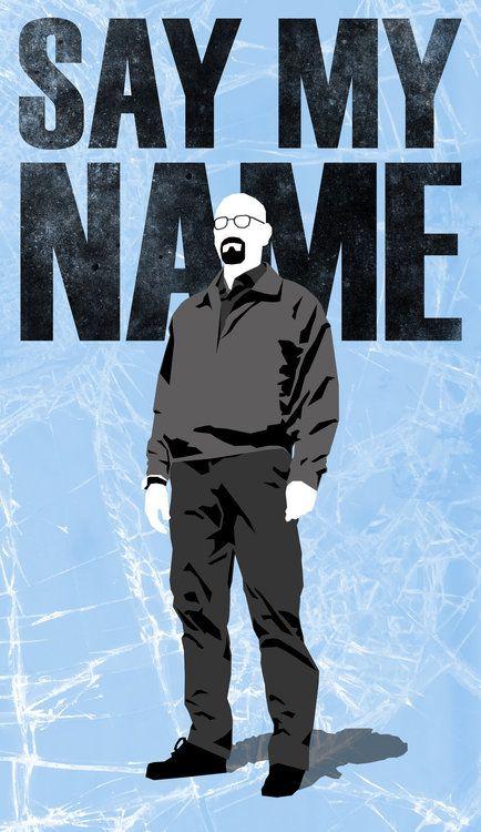 """Breaking Bad - """"Say my name - Heisenberg.Impressive fan art by Andrew Arizona #GangsterFlick"""