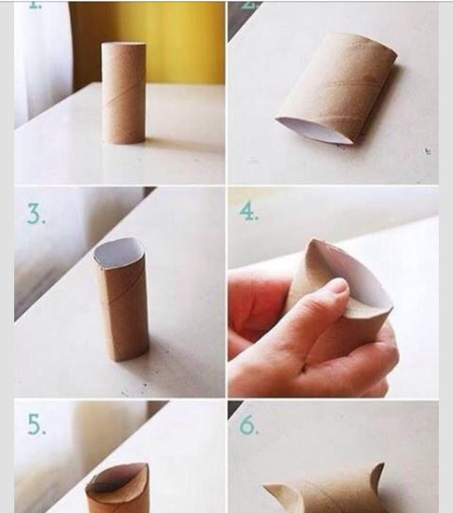Small gift box out of toilet paper roll