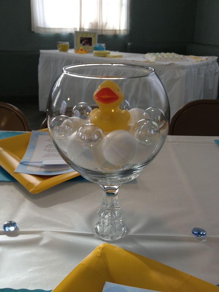 Rubber Duck baby shower theme... I created this for a baby boy