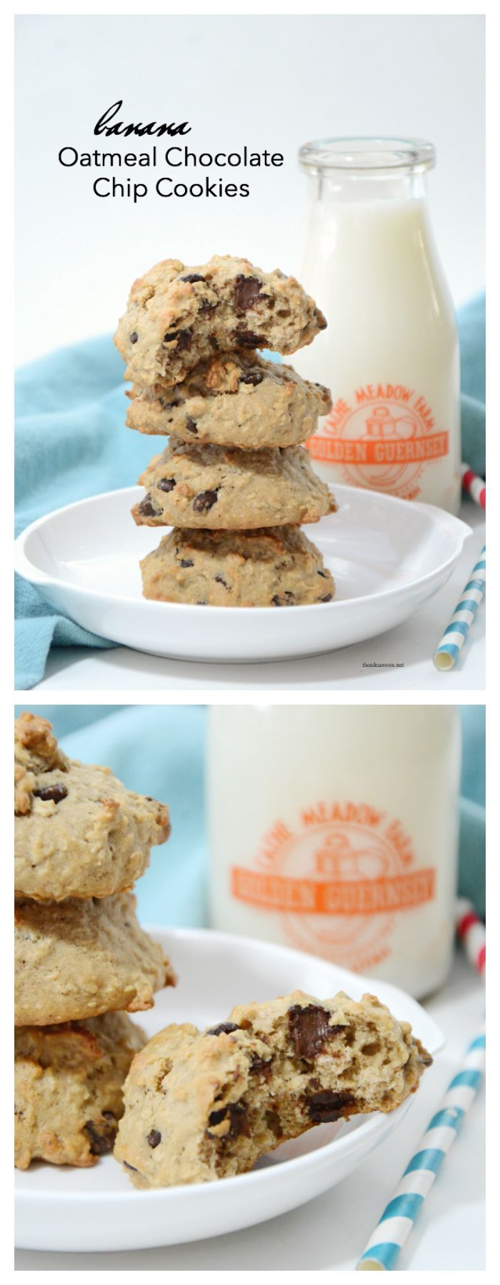 Recipes   Looking for a delicious Banana Cookies Recipe? These Banana Oatmeal Chocolate Chip Cookies are so tasty and are a great way to use your overripe bananas.