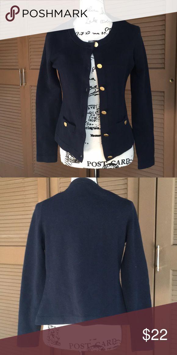 BR Nautical Cardigan EUC, 92% cotton, 6% nylon, 2% spandex. Banana Republic Sweaters Cardigans