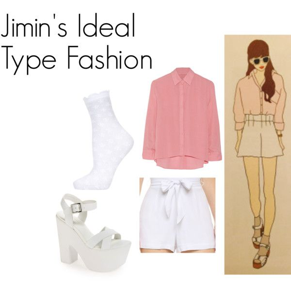 Jimin's Ideal Type Outfit by kaisper on Polyvore featuring Alice + Olivia, Emilio Cavallini, BB Dakota, Topshop, bts, jimin and kpopinspired