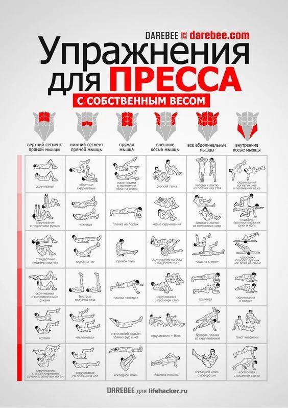 Фото: Лучшие упражнения для пресса, для выполнения которых не нужны тренажеры и спортзал. #JamAdvice #Упражнение #Фитнес #Домашниеупражнения #Комплексупражнений #Fitness #Workout #Пресс