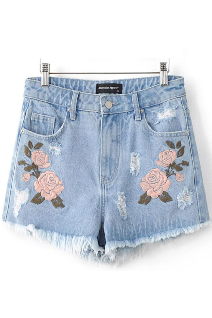 Best embroidered shorts ideas on pinterest