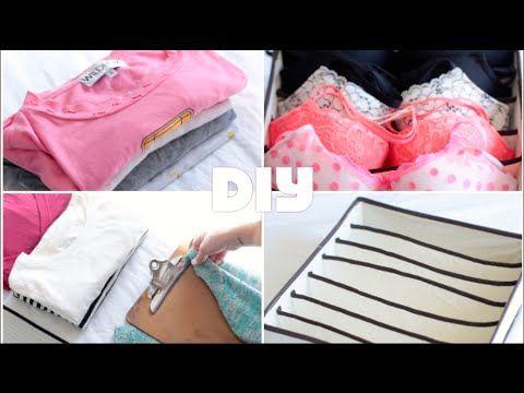 DIY Clothing Drawer Organization Tips | Rachel Talbott - YouTube