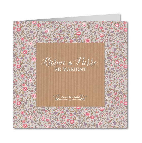Faire part mariage nature │ Planet-Cards.com