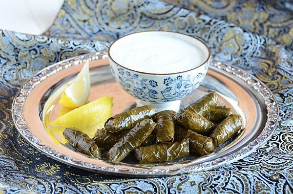 "Vegetarian Stuffed Grape Leaves by @Faith Gorsky Safarini from her new cookbook ""An Edible Mosaic"": Wine Leaves, Vegans Recipe, Stuffed Wine, Leaves Recipe, Stuffed Grape Leaves, Dinners Recipe, Mosaics Cookbook, Recipe Vegans, Vegetarian Stuffed"