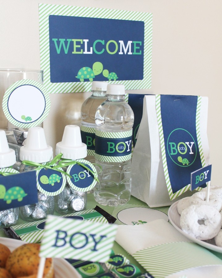 Turtle Boy Baby Shower Printable Package. 10.00, via Etsy.