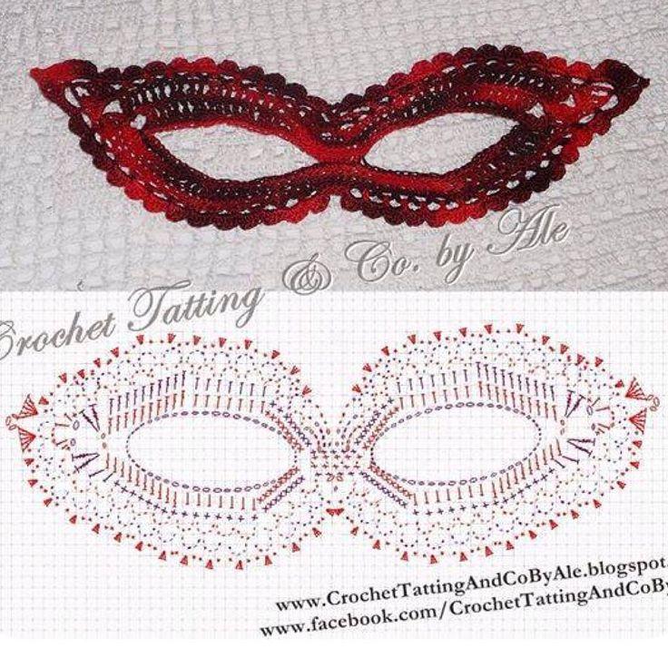 Crochet Mask -Chart ❥ 4U hilariafina http://www.pinterest.com/hilariafina/