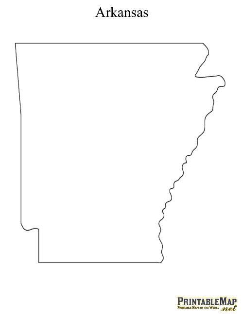 Printable State Maps - Arkansas