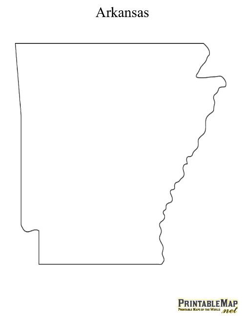 Printable State Maps - Arkansas