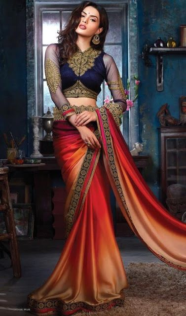 Latest Indian Sarees | Indian Evening Sarees 2015-2016 By Kaneesha
