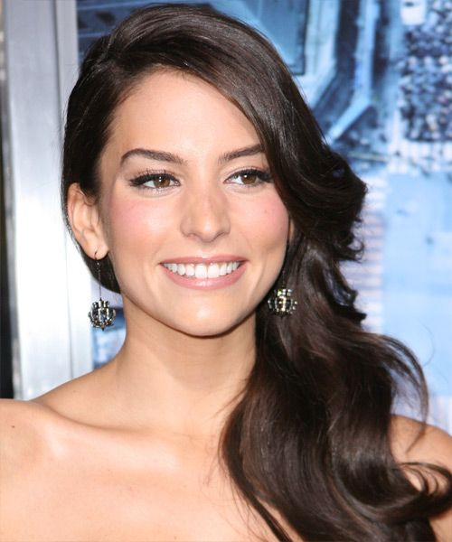 Genesis Rodriguez Hairstyle - Long Wavy Formal - Dark Brunette
