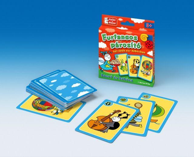 Bogyó és Babóca furfangos párosító kártyajáték- 2 játék az 1-ben…